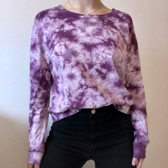 Garage Purple Tie dye crewneck